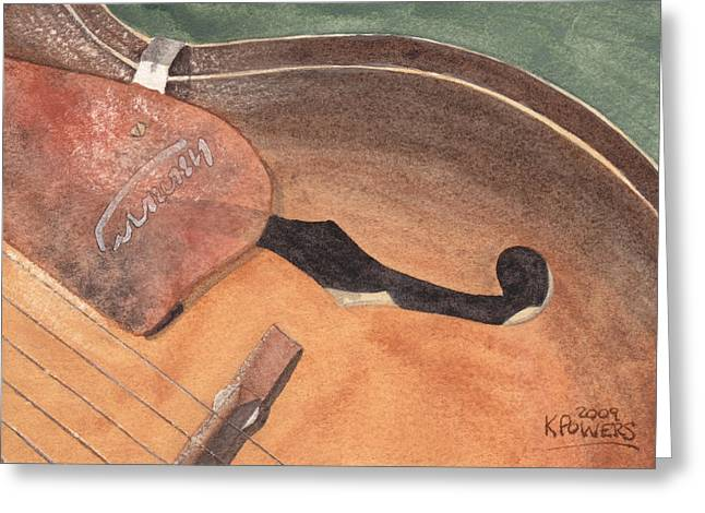 Guitar Greeting Cards - Harmony Greeting Card by Ken Powers