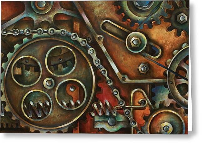 Machine Greeting Cards - Harmony Greeting Card by Michael Lang