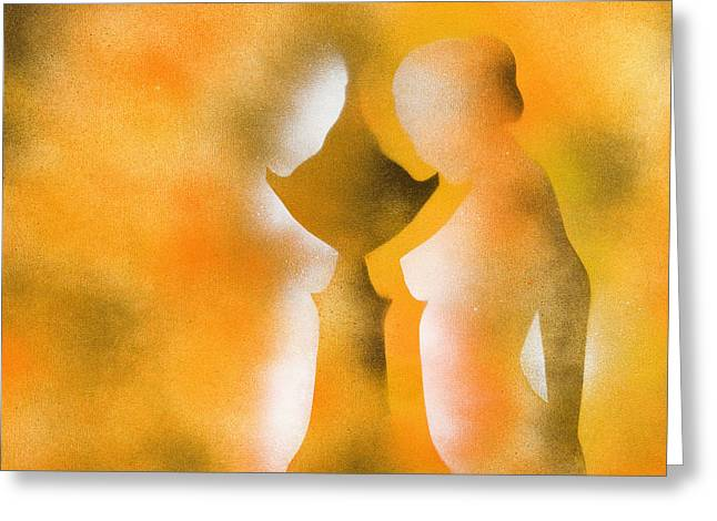 Paint Cans Greeting Cards - Harmony of Three Greeting Card by Hakon Soreide