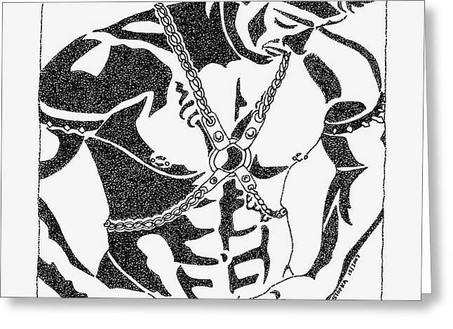 Harnessed In Chains Greeting Card by John Stofka