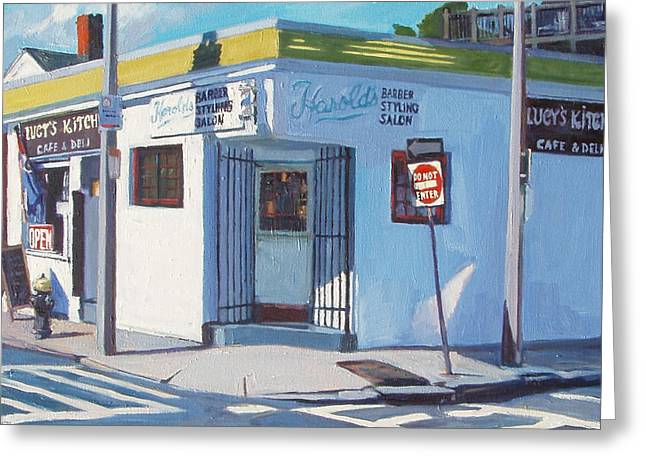 South Boston Greeting Cards Greeting Cards - Harolds Greeting Card by Deb Putnam