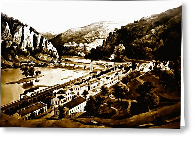 Recently Sold -  - Slavery Digital Art Greeting Cards - Harpers Ferry Greeting Card by Bill Cannon