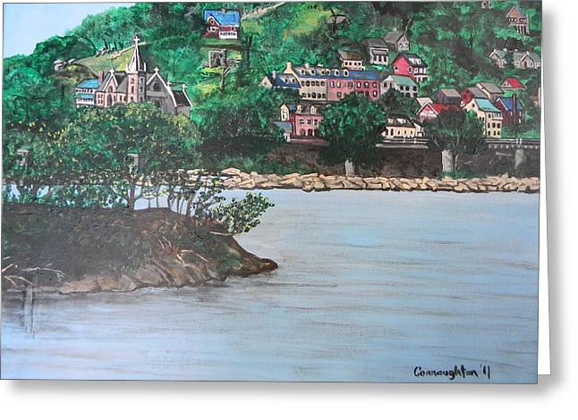 Harpers Ferry Paintings Greeting Cards - Harpers Ferry Greeting Card by John Connaughton