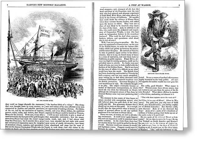 Magazine Pages Greeting Cards - Harpers Magazine, 1861 Greeting Card by Granger
