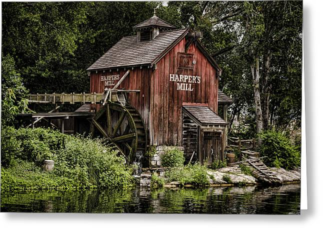 Flour Greeting Cards - Harpers Mill Greeting Card by Heather Applegate