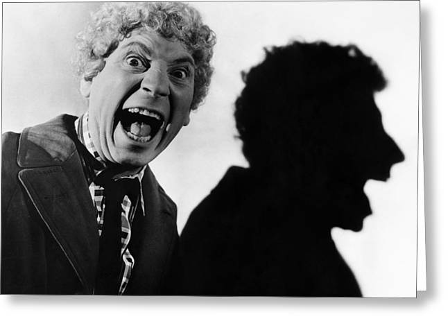 Marx Brothers Greeting Cards - Harpo Marx (1888-1964) Greeting Card by Granger