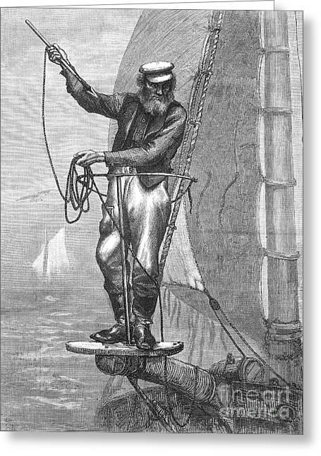 Swordfish Photographs Greeting Cards - Harpooning Swordfish Greeting Card by Granger