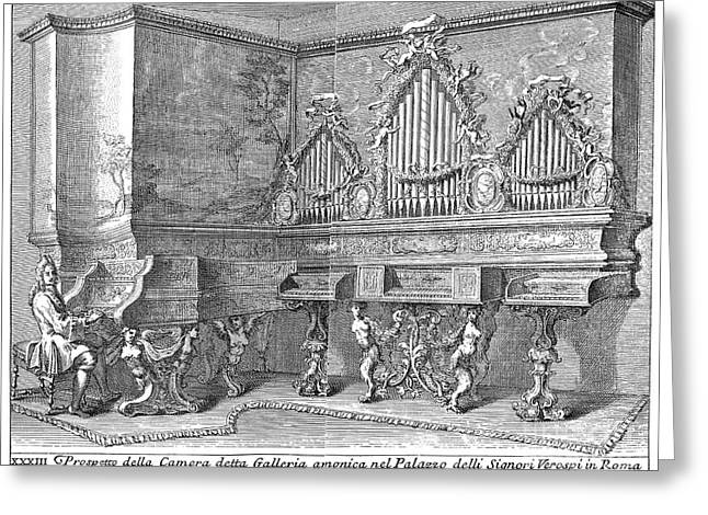 Michele Greeting Cards - Harpsichord & Spinets, 1723 Greeting Card by Granger