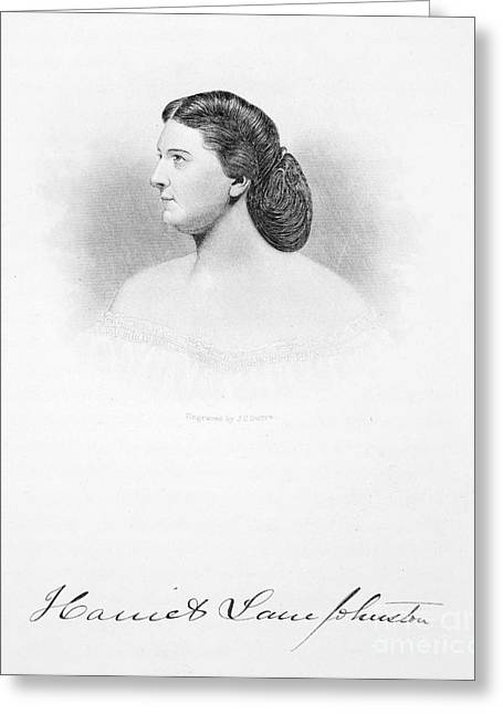 First-lady Greeting Cards - Harriet Lane Johnston Greeting Card by Granger