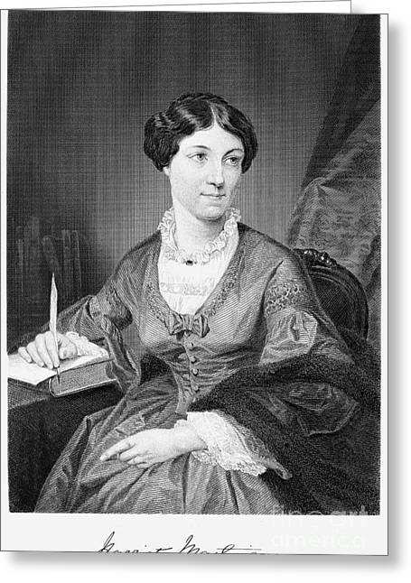 Autograph Greeting Cards - Harriet Martineau Greeting Card by Granger
