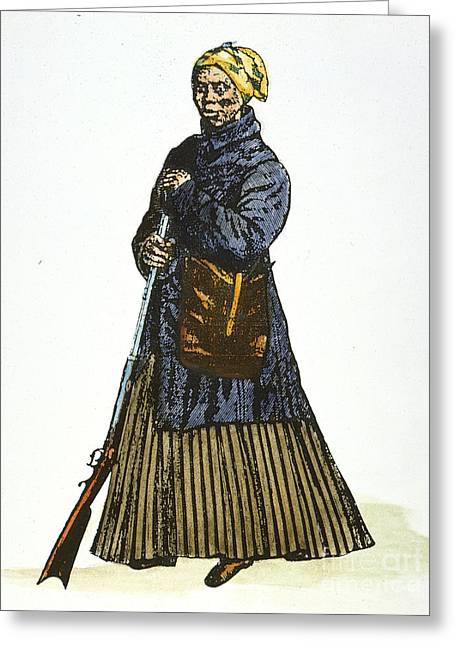 Tubman Greeting Cards - HARRIET TUBMAN (c1820-1913) Greeting Card by Granger