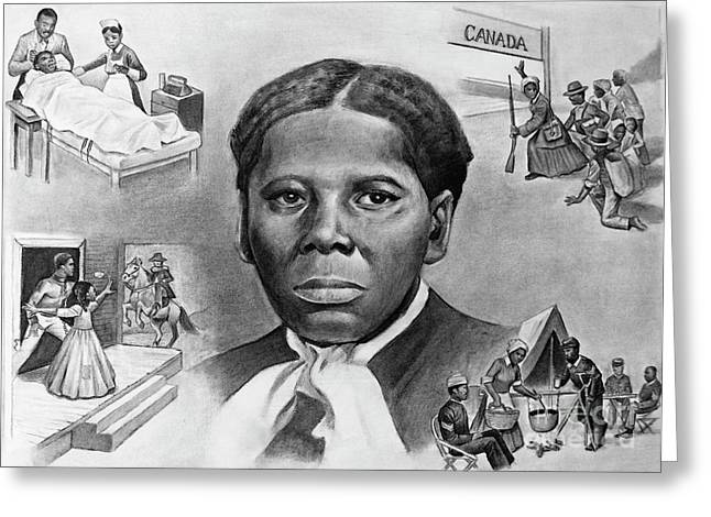 Fainting Spells Greeting Cards - Harriet Tubman Greeting Card by Curtis James
