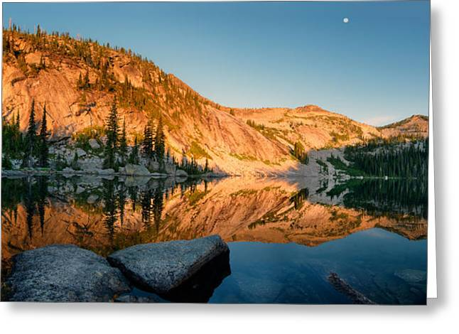 North Idaho Greeting Cards - Harrison Lake Panoramic Greeting Card by Leland D Howard