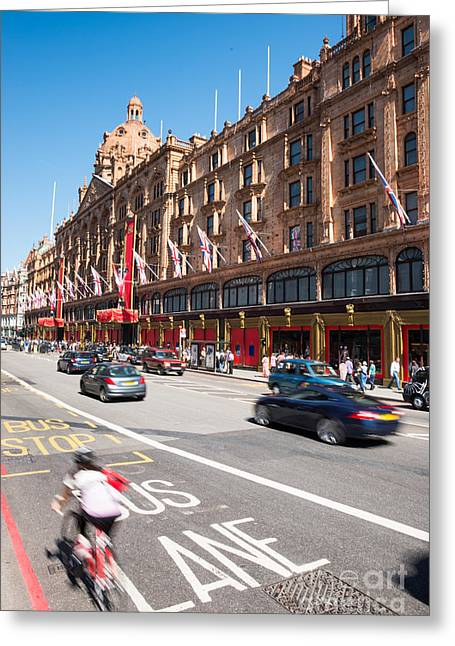 Harrods Greeting Cards - Harrods London Greeting Card by Andrew  Michael