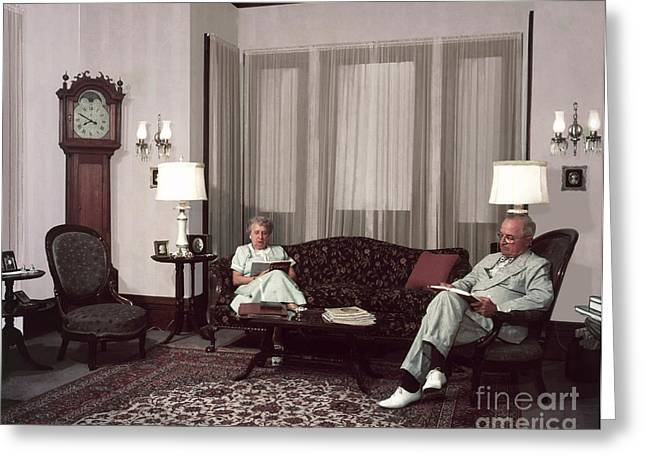 Bess Greeting Cards - Harry And Bess Truman Greeting Card by Photo Researchers