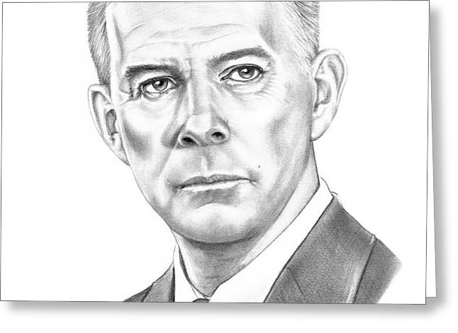 Harry Morgan Greeting Card by Murphy Elliott