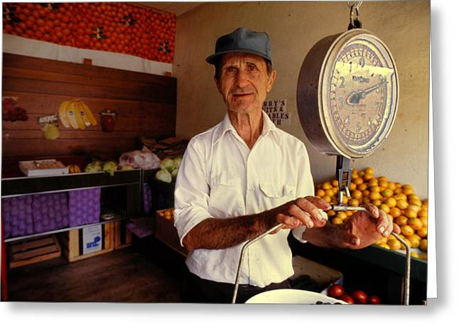 Grocery Store Greeting Cards - Harry Mufich Greeting Card by Don Wolf