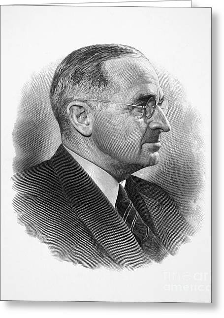Democratic Party Greeting Cards - Harry S. Truman Greeting Card by Granger