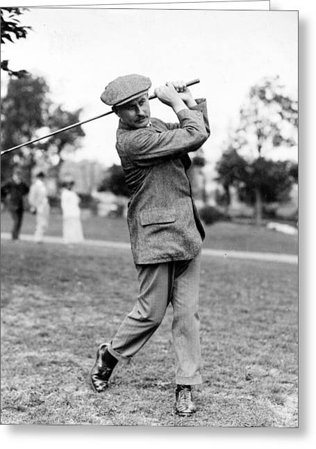 Golf Greeting Cards - Harry Vardon - Golfer Greeting Card by International  Images