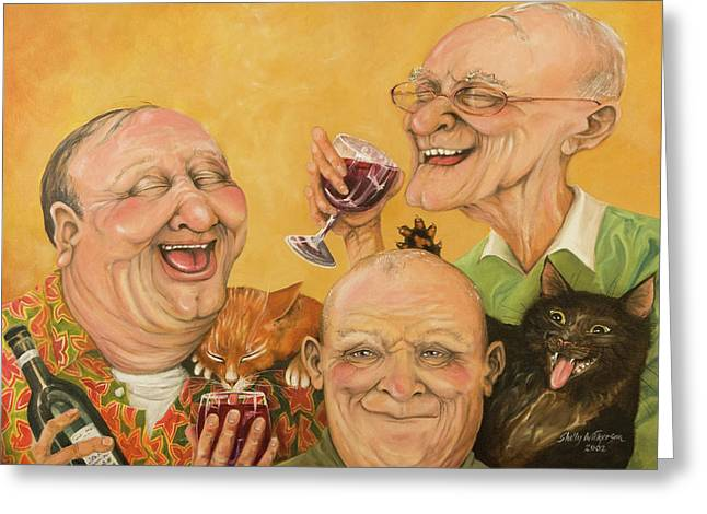 Toast Paintings Greeting Cards - Harrys Lodge Meeting Greeting Card by Shelly Wilkerson