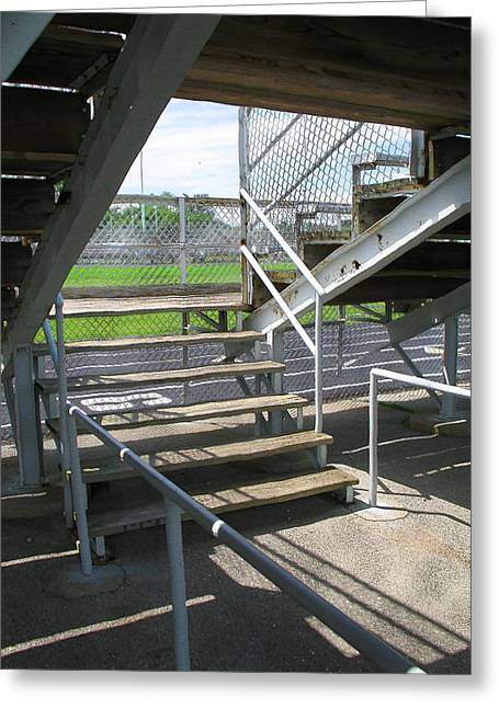 Harts Digital Greeting Cards - Hart Park Bleachers Greeting Card by Geoff Strehlow