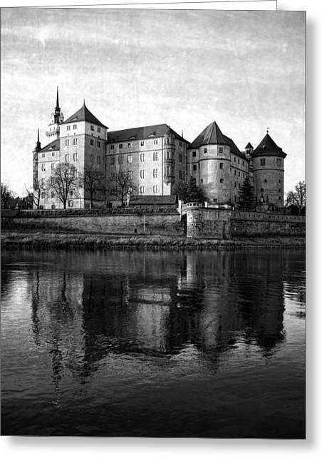 Deutschland Mixed Media Greeting Cards - Hartenfels Castle Greeting Card by Falko Follert