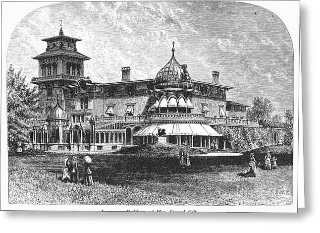 1876 Greeting Cards - Hartford: Armsmear Mansion Greeting Card by Granger