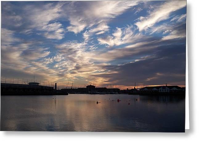 Hartlepool Greeting Cards - Hartlepool marina Greeting Card by James McCreadie