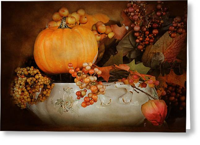 Centerpiece Greeting Cards - Harvest Memories Greeting Card by Jai Johnson