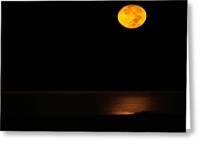 Reflection Harvest Greeting Cards - Harvest Moon Greeting Card by Dorothy Cunningham