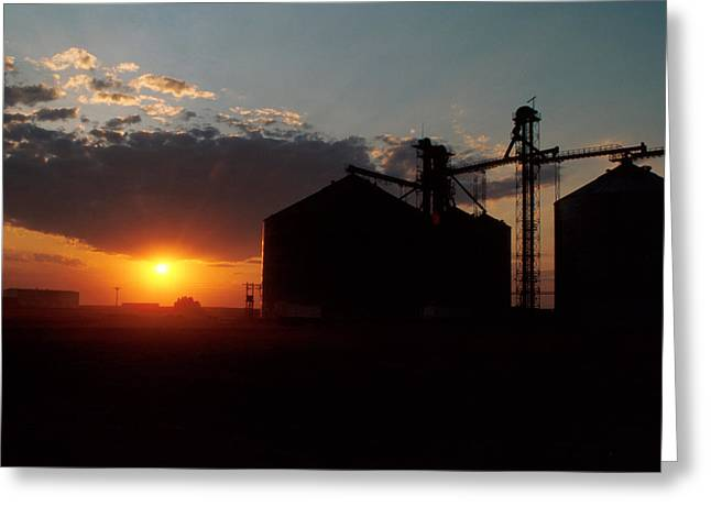 Harvest Art Greeting Cards - Harvest Sunset Greeting Card by Jerry McElroy