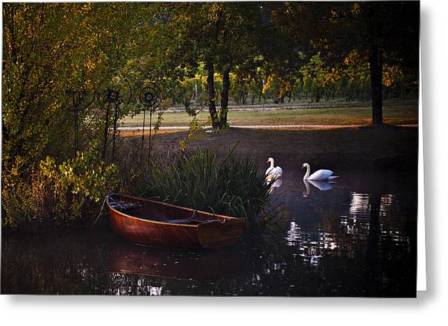 Reflection Harvest Greeting Cards - Harvest Waters Greeting Card by Laura Olson