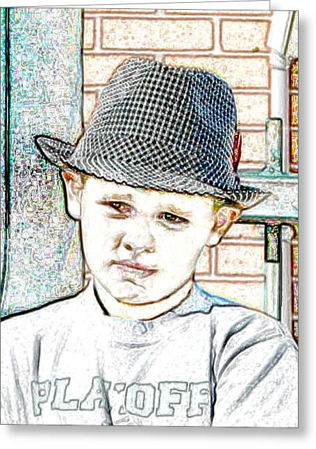 Bear Bryant Digital Art Greeting Cards - Hat of A Hero Greeting Card by Lynn Reid