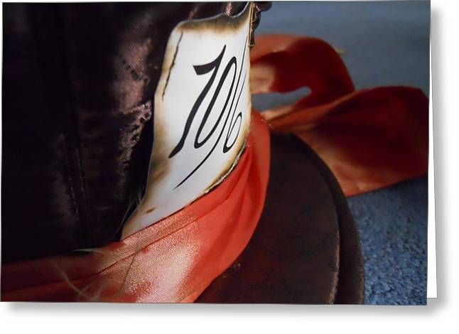 Mad Hatter Photographs Greeting Cards - Hat Price Greeting Card by James McGuine