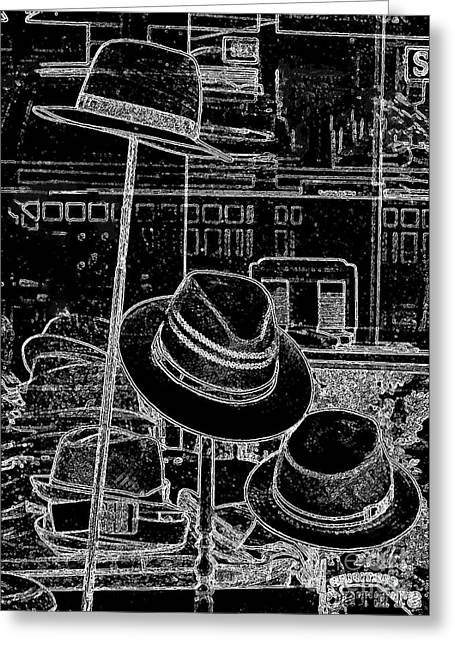 Hat Shop In Paris Greeting Card by Carol Groenen