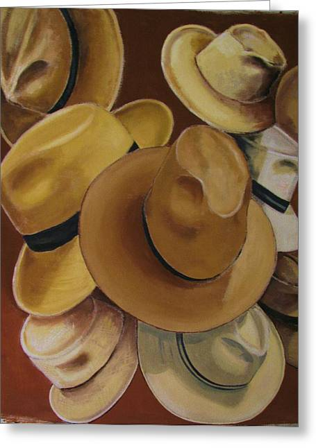 Large Scale Greeting Cards - Hats Panama Greeting Card by Patrick Bornemann