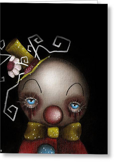 Abril Greeting Cards - Hatter Clown Greeting Card by  Abril Andrade Griffith
