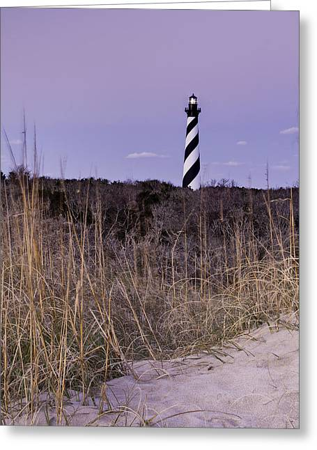 North Carolina Greeting Cards - Hatteras Lighthouse - NC Lighthouse Scene Greeting Card by Rob Travis