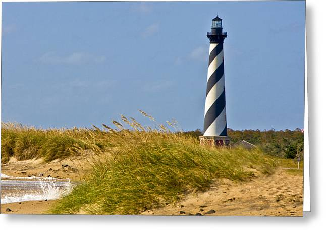 Sea Oats Greeting Cards - Hatteras Lighthouse Greeting Card by Ches Black