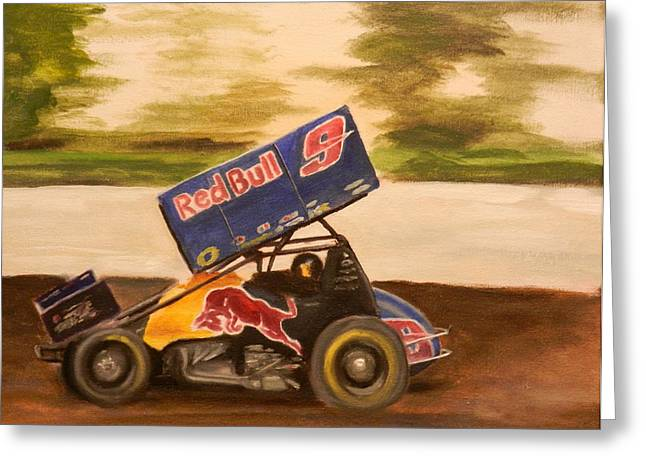Calistoga Paintings Greeting Cards - Haulin ass Greeting Card by James Lopez