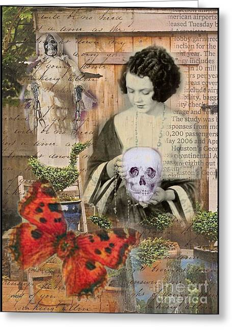 Haunted Garden Greeting Card by Ruby Cross
