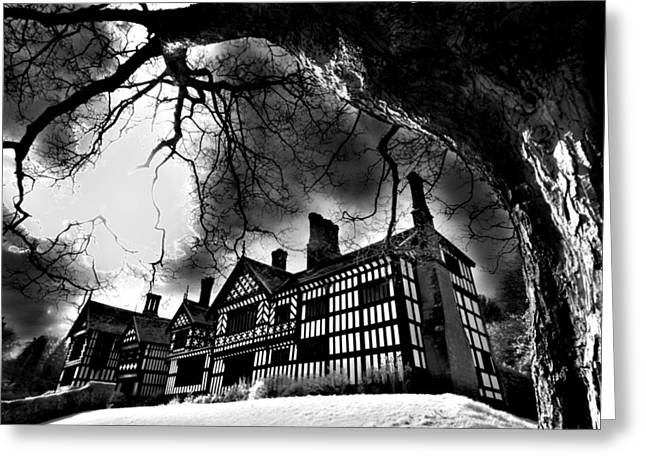 Haunted Hall Greeting Card by Matt Nuttall