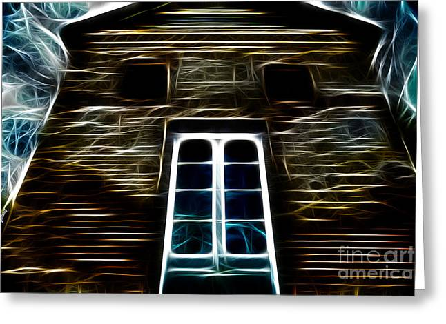 Haunted House Photographs Greeting Cards - Haunted House Greeting Card by Cheryl Young