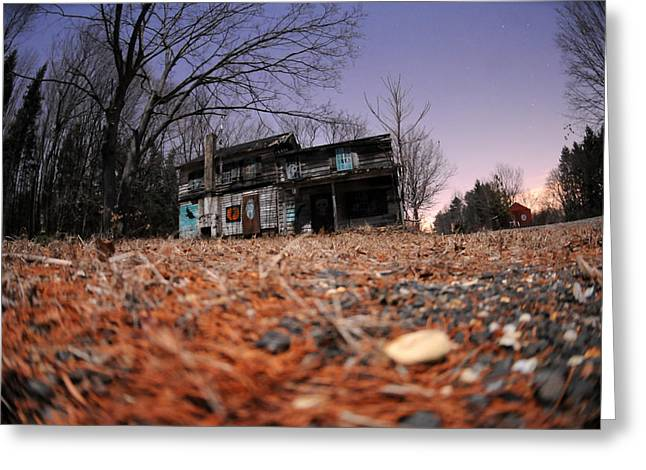 haunted house Greeting Card by Mike Lindwasser Photography