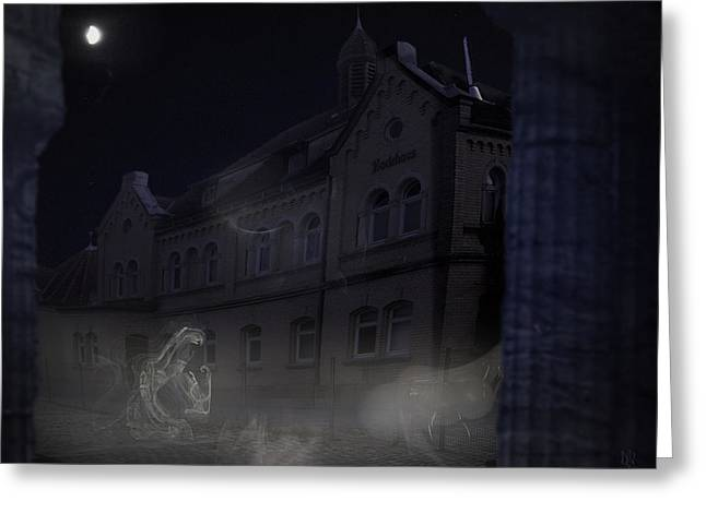 Public Bath Greeting Cards - Haunted House Greeting Card by Nafets Nuarb