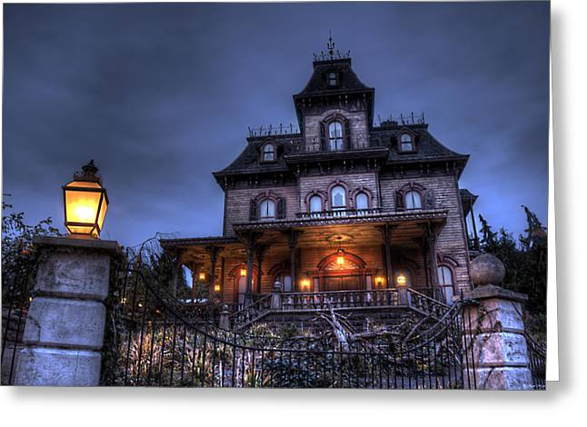 Haunted Mansion Greeting Card by Ryan Wyckoff