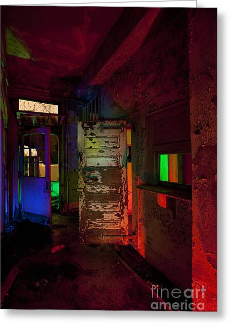 Night Time Greeting Cards - Haunted Stamford Hotel Greeting Card by Keith Kapple