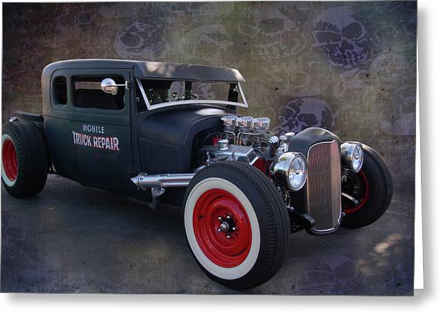 Slammer Greeting Cards - Haunted Truck Repair Greeting Card by Bill Dutting