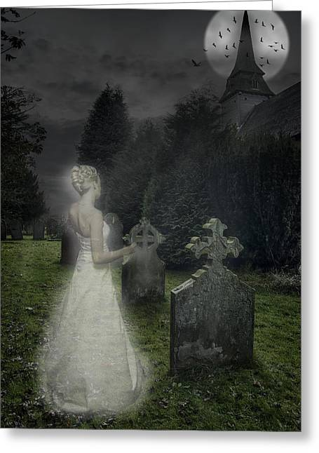 Ghostly Greeting Cards - Haunting Greeting Card by Amanda And Christopher Elwell