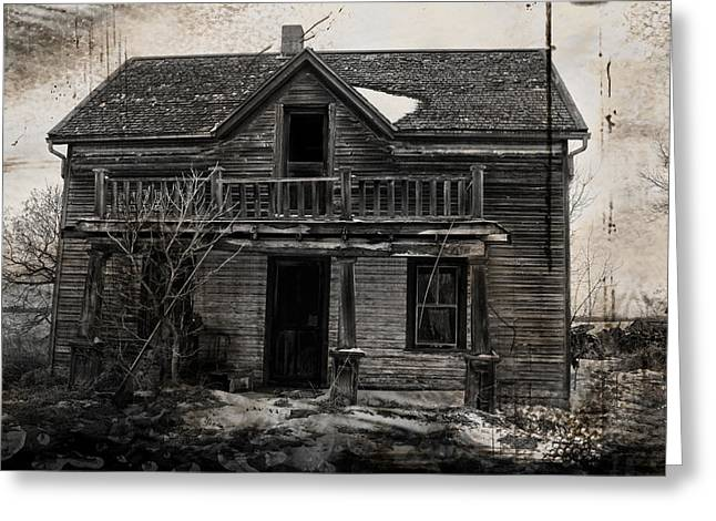 Abandoned Houses Greeting Cards - Haunting East Greeting Card by Jerry Cordeiro